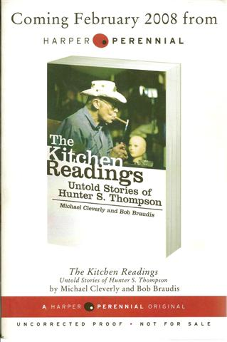 Image for The Kitchen Readings; Untold Stories of Hunter S Thompson