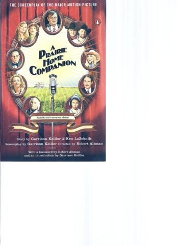 Image for A Prairie Home Companion : The Screenplay